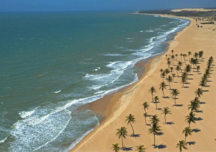 Cumbuco é um praia brasileira localizada no município de Caucaia, a 30 km da capital, Fortaleza no estado do Ceará - Foto: Google